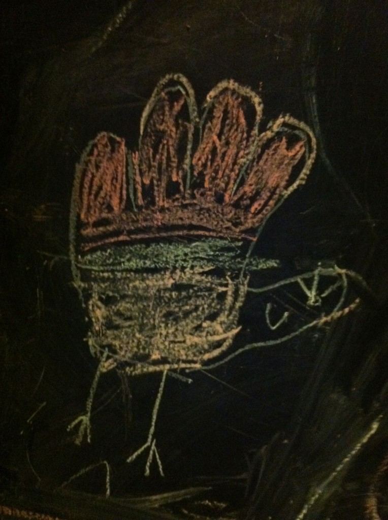 chalkboard turkey