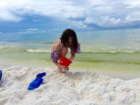Firecracker sandcastle